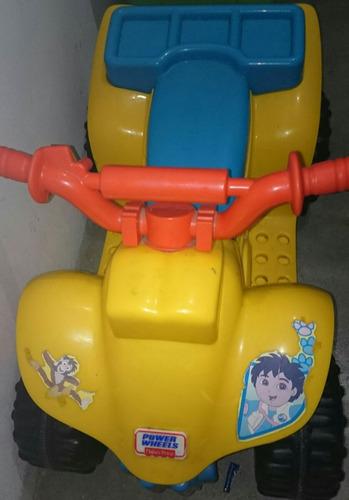 moto a batería fisher price ( unico en peru) diego go diego