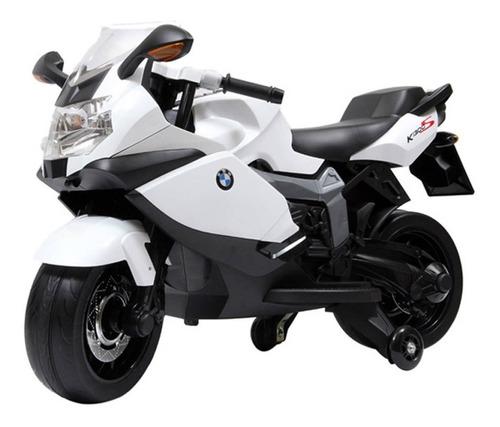 moto a bateria p/niños bmw 12v c/ rueditas, luz y sonidos