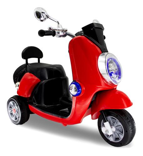 moto a bateria recargable vespa con luz + sonido - el regaló