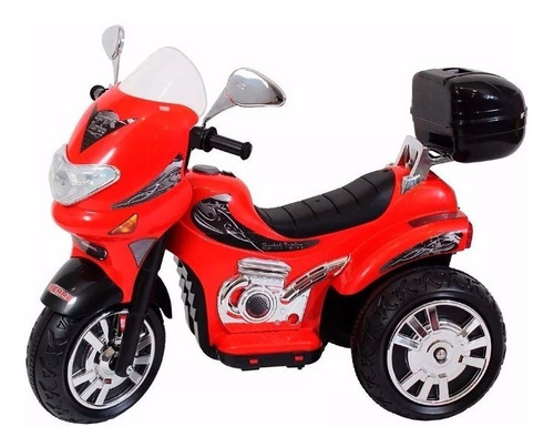 moto a bateria sprint roja 191 con casco luz y sonido biemme