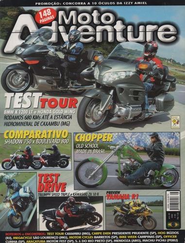 moto adventure n°66 bmw k1200lt gold wind shadow 750 chopper