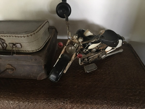 moto antigua tipo harley davidson chopera mide 40 cm adorno