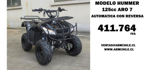 moto atv hummer 125cc  aro 7 a solo $ 462184+iva