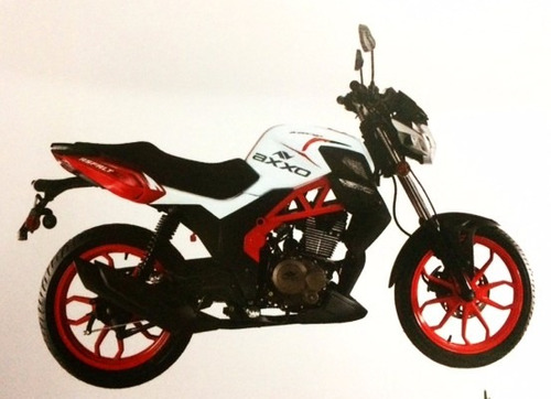moto axxo asfalt 150 año 2017 150cc, rojo con negro neg/verd