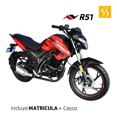 moto axxo street sport r51 motor 4 tiempos matricula + casco