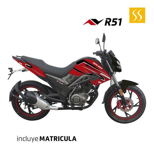 moto axxo street sport r51 negra motor 4 tiempos + matricula