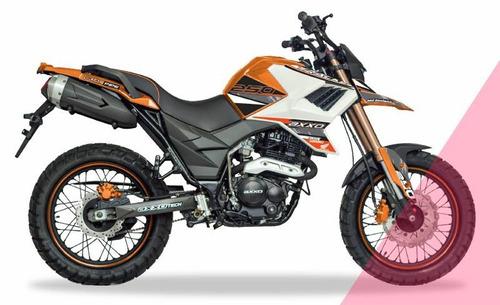 moto axxo tracker 6c año 2017 rojo, naranja, blanco 250cc
