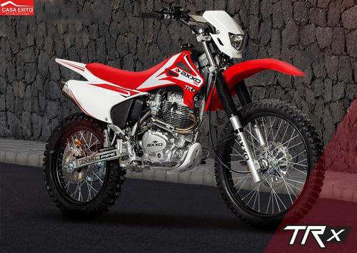 moto axxo trx200 año 2017 rojo, blanco, negro 200cc