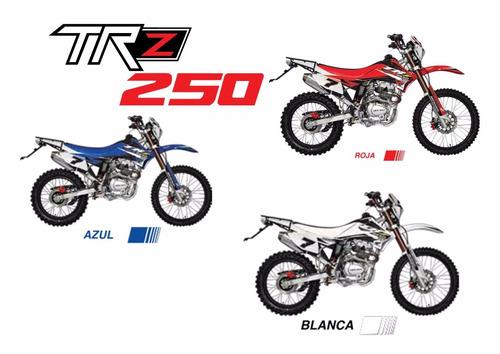 moto axxo trz250 año 2017 blanco, negro, rojo
