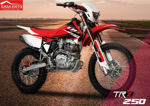 moto axxo trz250 año 2018 blanco, negro, rojo