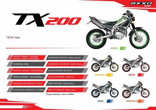 moto axxo tx 200 año 2015 200cc azul