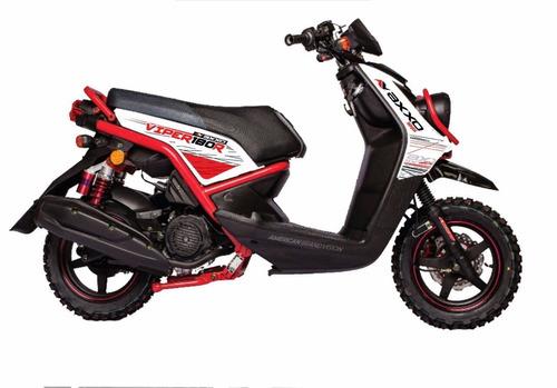 moto axxo viper 180r año 2020 180cc color ro/ az/ ne/