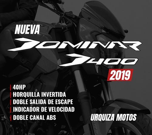 moto bajaj dominar 400 nueva 2020 nuevo urquiza motos 0km