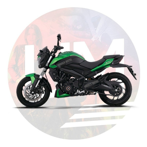 moto bajaj dominar 400 nueva verde cuotas 0km urquiza motos