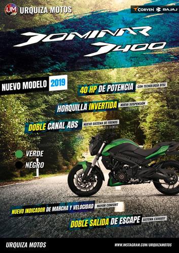 moto bajaj dominar 400 ug nueva 40hp  0km urquiza motos