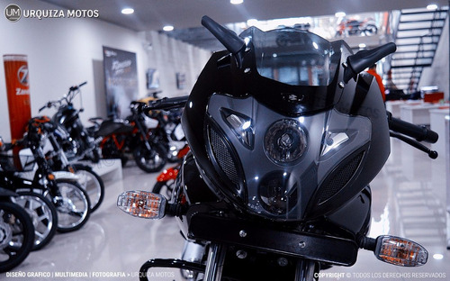 moto bajaj pulsar rouser 220f 220 f azul 0km urquiza motos