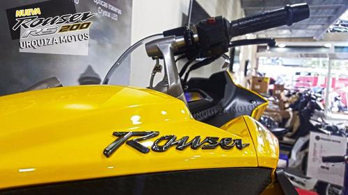 moto bajaj pulsar rouser rs 200 rs200 0km urquiza motos rojo