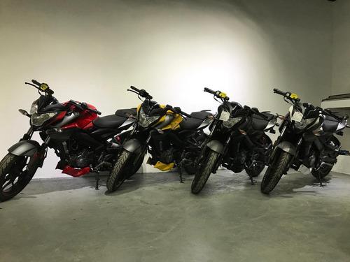 moto bajaj rouser ns 200 0 km amarilla roja blanca negra