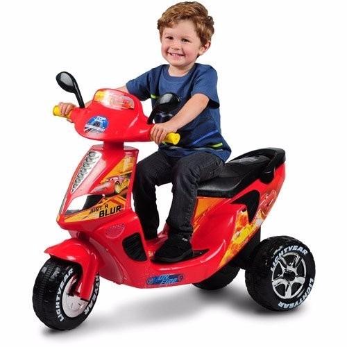 moto bateria disney cars lightning mcqueen 3 wheel ride. Black Bedroom Furniture Sets. Home Design Ideas