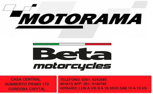 moto beta boy 110 0km concesionario motorama