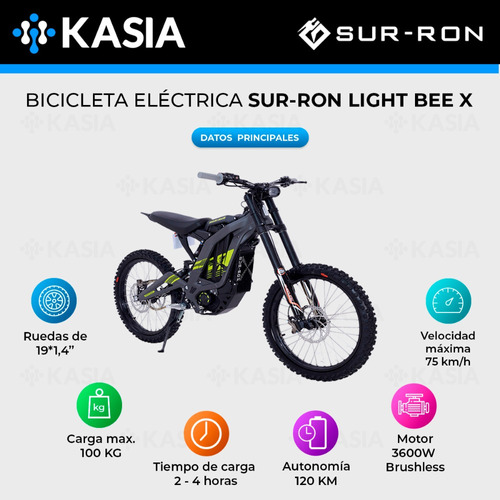 moto bicicleta electrica sur ron light bee x