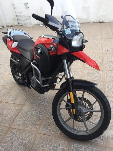 moto bmw modelo g650 gs, año 2012, color rojo