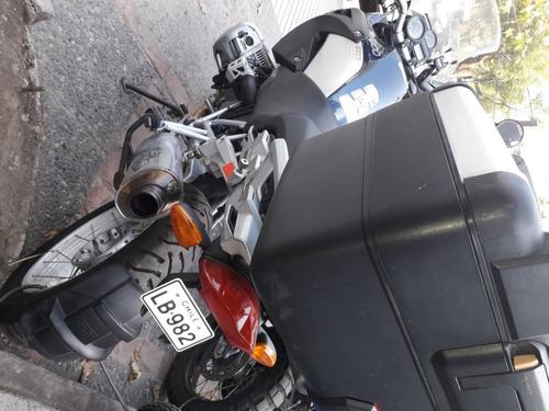 moto bmw r 1200 gs muy equipada maletas top case