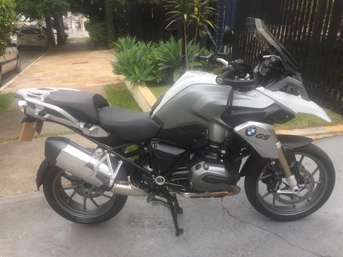 moto bmw r 1200 gs sport 2016, freios abs, branca, troco