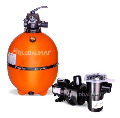 moto bomba 3/4 cv e filtro para piscina f 550p piscinas 95m³