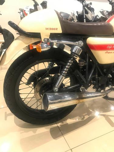 moto cafe racer vc 200 gilera 2018 2000 kms usada caba