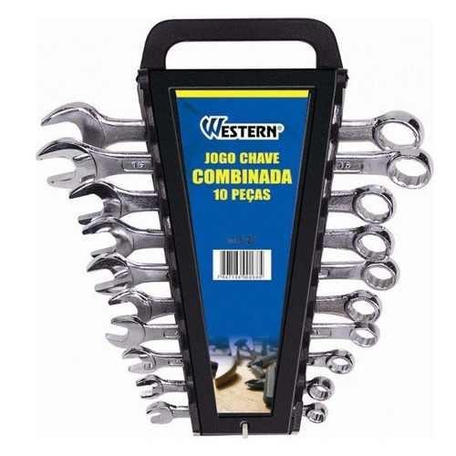 moto chave combinada 10 pçs boca promoção ferramenta forte