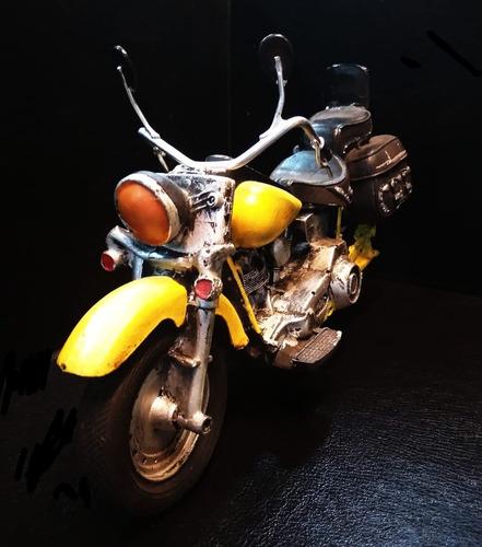 moto chopper adorno cerámica