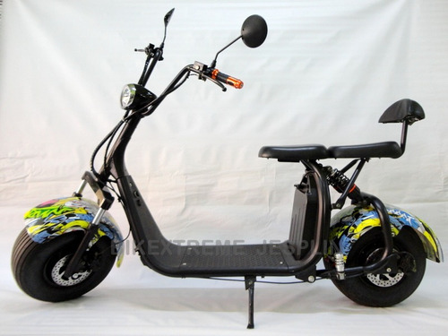 moto chopper eléctrica de doble suspensión