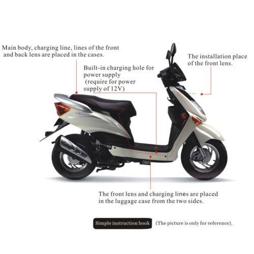 moto coche acción doble cámara video hd 0.3mp hd lcd noche
