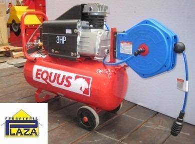 moto compresor de aire 35 litros manguera retráctil 8mts 3hp