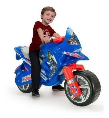 moto corre pasillos infantil hawk avengers  injusa