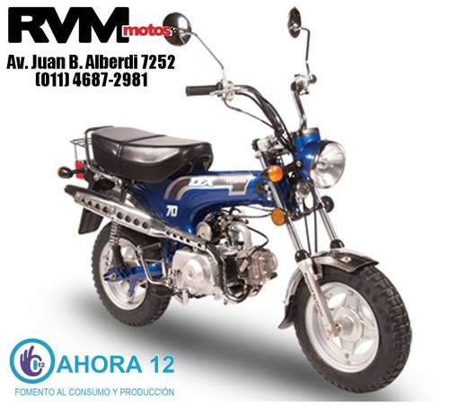 moto corven dx 70 0km azul entrega inmediata + regalo - rvm