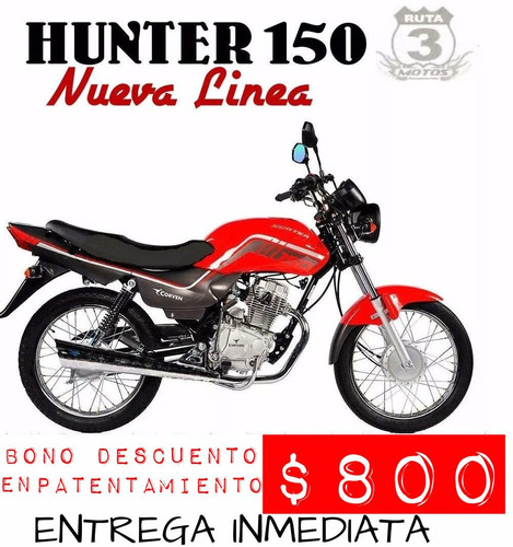 moto corven hunter 150 new 0km 2018