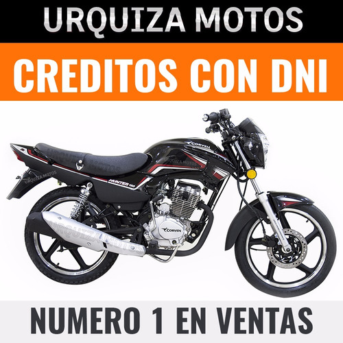 moto corven hunter 150 r2 full nueva 0km urquiza motos