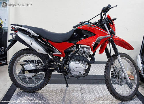 moto corven triax 150 r3 enduro cross roja 0km urquiza motos