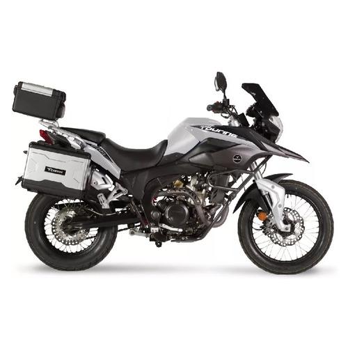 moto corven triax 250 touring tipo bmw con valijas usb 12v