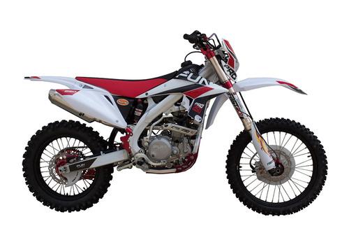 moto cross 250 pro vermelha injecao suspensao invertida