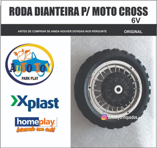 moto cross 6v homeplay - roda dianteira