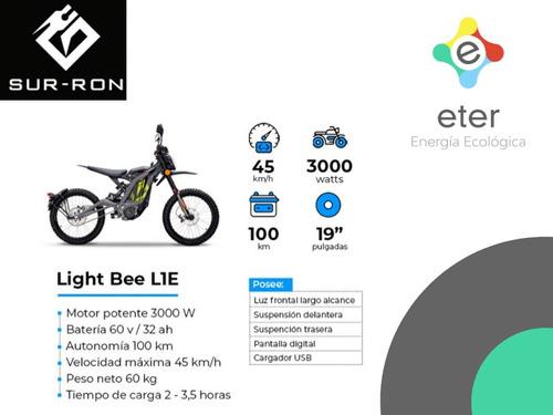moto cross eléctrica sur ron light bee l1 zona norte pilar