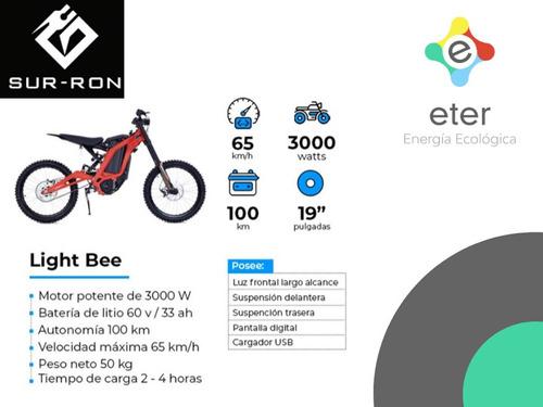 moto cross eléctrica sur ron light bee zona norte pilar