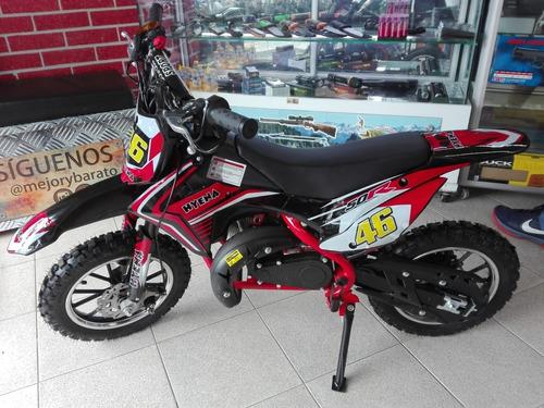 moto cross mini a gasolina para niños cros mas grande nueva