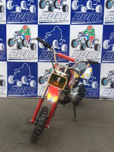 moto cross pitbike 110cc automatica  encendido electrico