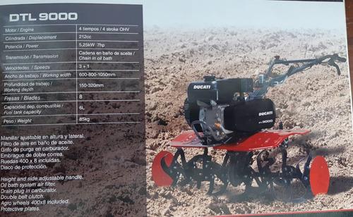 moto-cultor italiano ducati s/5500 con arados ruedas metalic