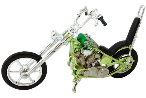 moto custom chopper miniatura 1:32