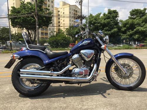 moto custom - honda shadow 600 vt - azul - 600cc - v2custom